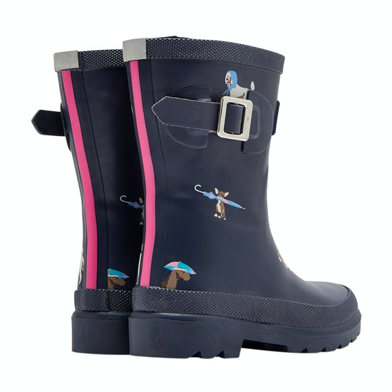 Joules Field Printed Girls Wellingtons