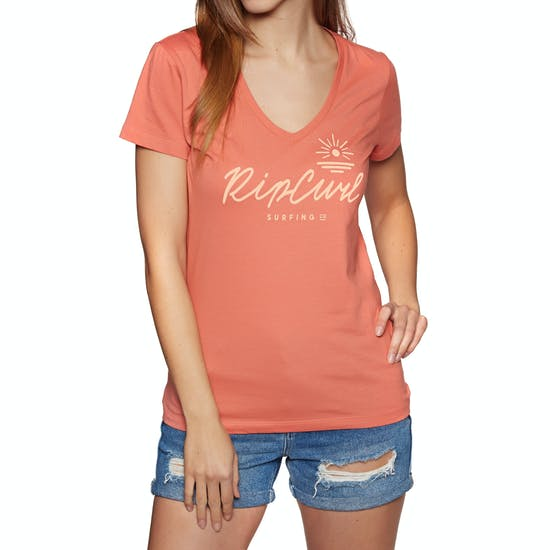 Rip Curl Rocky V Neck Ladies Short Sleeve T-Shirt
