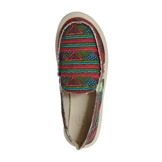 Sanuk W Donna Geo Stripes Ladies Slip On Trainers