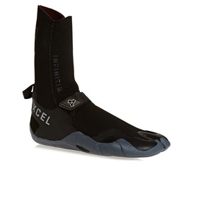 Xcel Infiniti 3mm Split Toe Wetsuit Boots - Black Grey