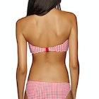 """Seafolly Capri Check """"v"""" Wire Bandeau Bikini Top"""