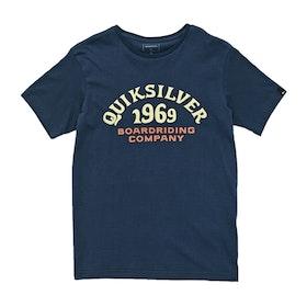 Quiksilver Kirra Shakka Boys Short Sleeve T-Shirt - Blue Nights