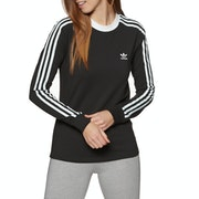 Adidas Originals 3 Stripe Womens Long Sleeve T-Shirt