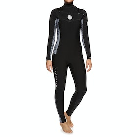 Rip Curl Dawn Patrol 4/3mm Chest Zip Wetsuit - Black White