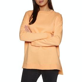 SWELL Bricklane Boyfriend Side Split Crew Womens Sweater - Apricot