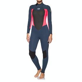 Combinaison de Surf Femme Rip Curl Omega 5/3mm Back Zip - Neon Pink