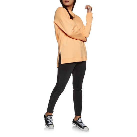 SWELL Bricklane Boyfriend Side Split Crew Damen Pullover