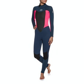 Rip Curl Omega 4/3mm Back Zip Wetsuit - Neon Pink