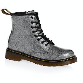 Dr Martens 1460 Glitter Kids Boots - Gunmetal Coated Glitter