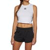 Camiseta sin mangas Mujer Adidas Originals Crop - White Black