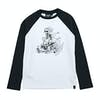 Animal Tearaway Boys Long Sleeve T-Shirt - White