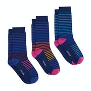 Joules Socks And Shares Set Of Three Bamboo Sokken