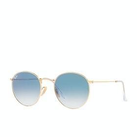 Ray-Ban Round Metal Sunglasses - Arista ~ Crystal White Grad. Blue