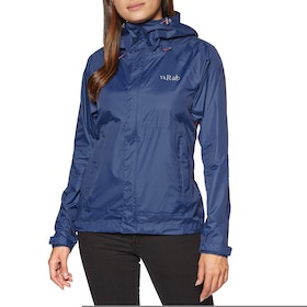 Giacca Donna Rab Downpour Packable - Twilight