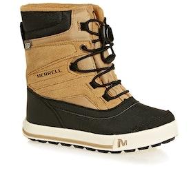 Merrell Snow Bank 2 WTPF Kids Boots - Wheat Black