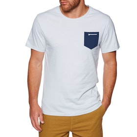 Surf Perimeters In The Pocket Print Short Sleeve T-Shirt - Glacier Grey