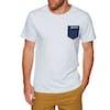 Surf Perimeters In The Pocket Print Short Sleeve T-Shirt - Glacier Grey
