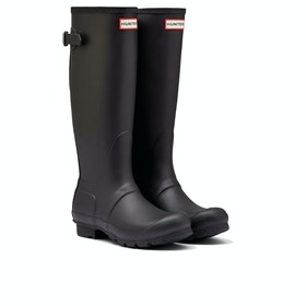 Hunter Original Back Adjustable Womens Wellies - Black