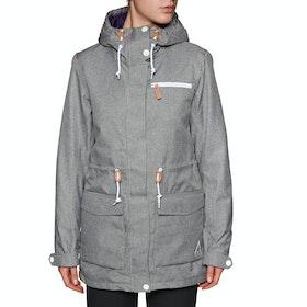 Wear Colour State Parka Womens Snow Jacket - Grey Melange