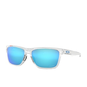 Oakley Holston Sunglasses - Polished Clear~prizm Sapphire