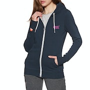 Sweat à Capuche avec Fermeture Éclair Femme Superdry Orange Label Lite