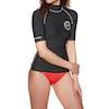 Rashguard Femme Billabong Logo In Short Sleeve - Black Pebble
