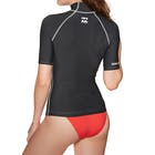 Billabong Logo In Short Sleeve Ladies Rash Vest