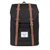 Herschel Retreat Backpack - Black tan Synthetic Leather