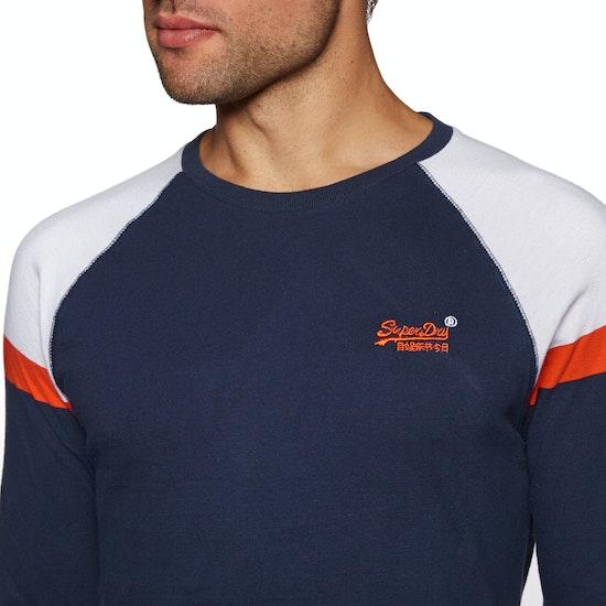 Camiseta de manga larga Superdry Orange Label Engineered Baseball