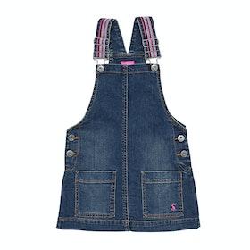 Joules Scout Denim Pinafore Girls Dress - Denim