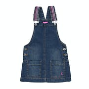 Joules Scout Denim Pinafore Girls Dress