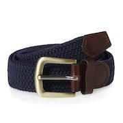 Barbour Stretch Webbing Leather Web Belt