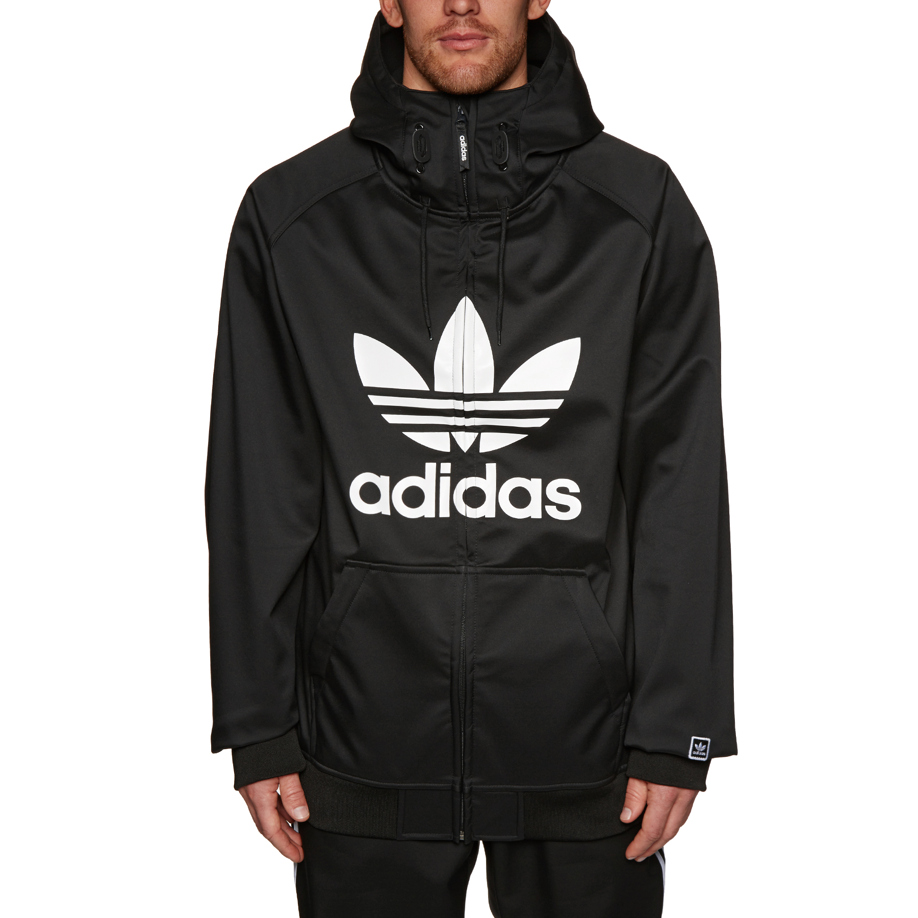 adidas Black white Greeley Softshell Snowboarding Jacket L