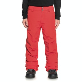 Quiksilver Estate Youth Kids Snow Pant - Flame