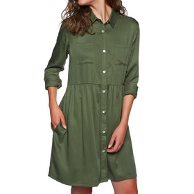 SWELL Tencel Shirt Dress - Dusty Olive