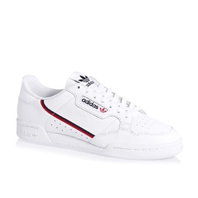 Adidas Originals Continental 80 Shoes - White Scarlet Collegiate Navy