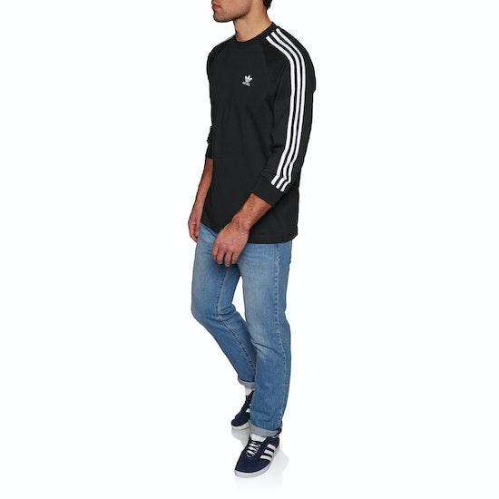 Adidas Originals 3 Stripe Long Sleeve T-Shirt