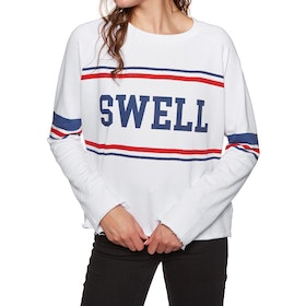 SWELL College Crew Neck Womens Sweater - White