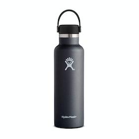 Bottiglia d'Acqua Hydro Flask 21 oz Standard Mouth with Flex Cap - Black