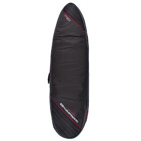 Ocean and Earth Double Compact Fish Cover Surfboard Bag - Black