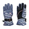 Roxy Jett Girls Snow Gloves - Crown Blue Stripes