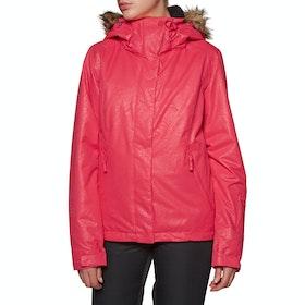 Roxy Jet Ski Solid Womens Snow Jacket - Tea Berry_kerala Emboss