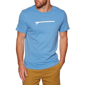 Surf Perimeters The Icon Board Print Short Sleeve T-Shirt - Cendre Blue