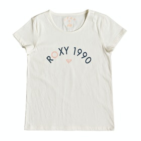 Roxy Roses In The Rain Girls Short Sleeve T-Shirt - Marshmallow