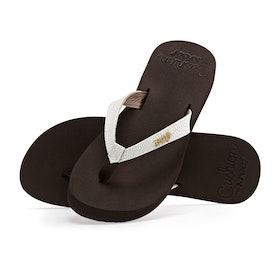 Reef Star Cushion Sassy Womens Sandals - Brown White