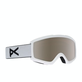 Anon Helix 2.0 w Spare Lens Snow Goggles - White ~ Silver Amber