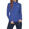 North Face 100 Glacier Quarter Zip Womens Fleece - Lapis Blue Stripe