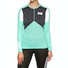 Top Seconde Peau Femme Helly Hansen Hh Lifa Active Crew - Pool Blue