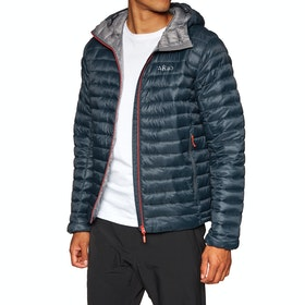 Rab Nimbus Jacket - Beluga Zinc Red Zip