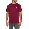 Chrystie C Logo Short Sleeve T-Shirt - Burgundy